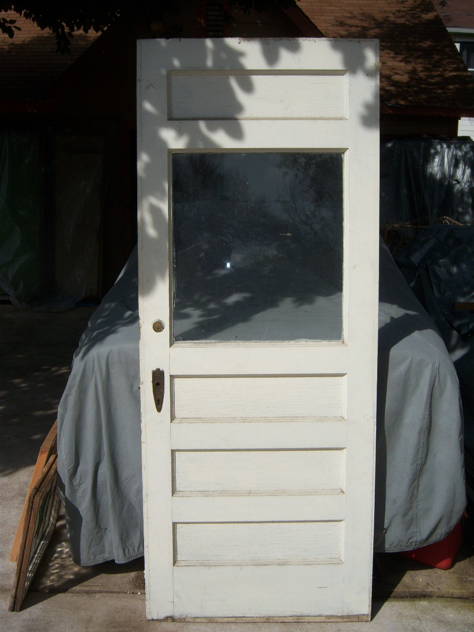 ... Vintage wood glass door. - Old Is Better Than New - Antique Architectural Old Wood & Glass