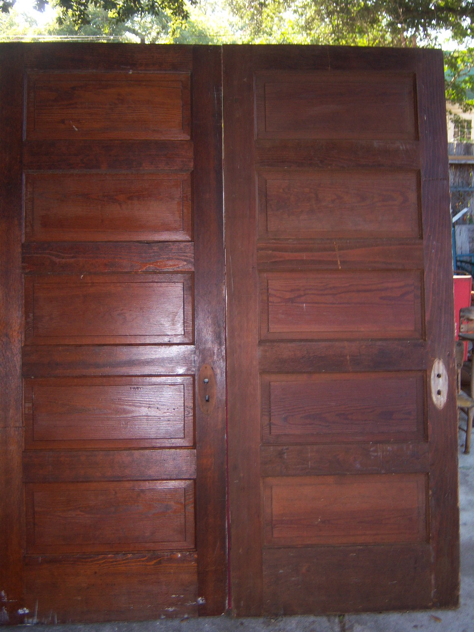 5 Raised wood Panel antique doors in good condition ... - Old Is Better Than New - Antique Architectural Old Wood & Glass