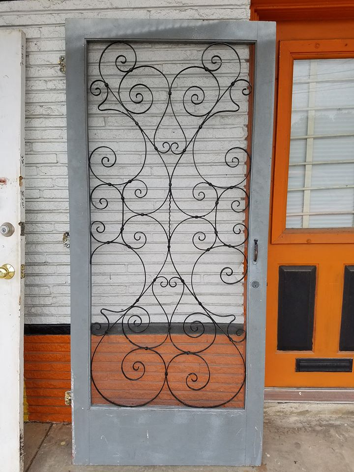 Antique Vintage Old Texas Wood or Metal Screen Doors. - Old Is Better Than New - Antique Vintage Old Texas Wood Or Metal