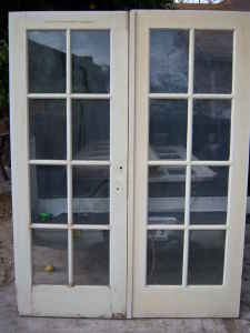 Antique Architectural Old Wood U0026 Glass Doors From Texas. Stock Daily.