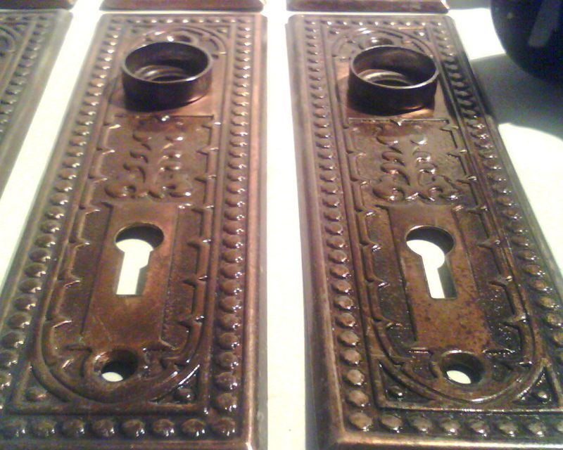 vintage eastlake brass door plates refurbish for 50 a pair click lower right for info